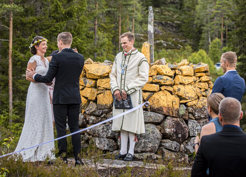 Норвежка и швед поженились на границе