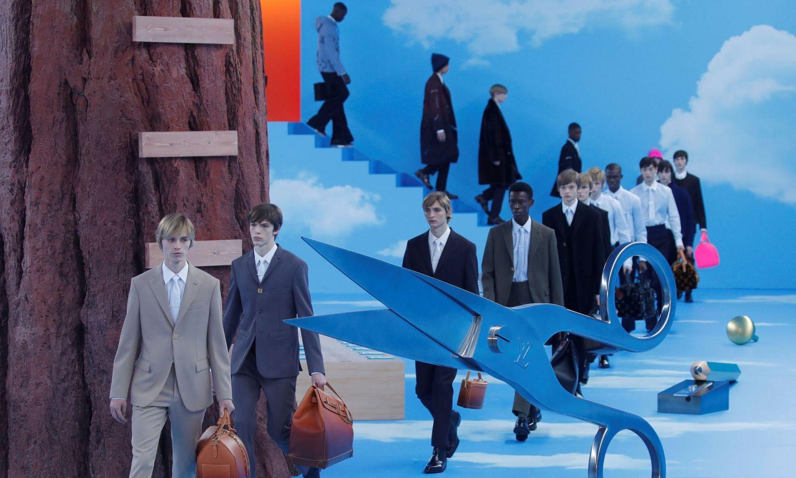 Рай на Земле: Вирджил Абло показал осеннюю коллекцию Louis Vuitton