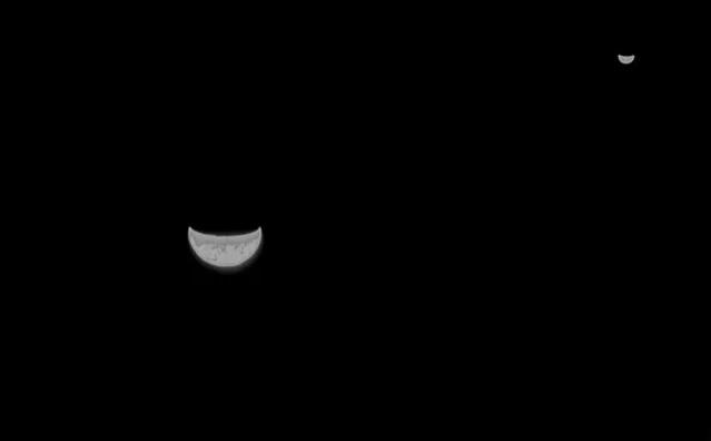 Фотография на память. Китайский зонд сделал снимок Земли по дороге к Мар...