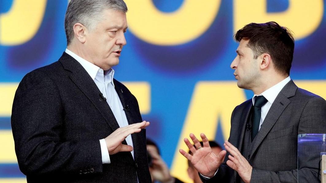 С февраля рейтинг Зеленского упал на 3,3%, а Порошенко – вырос на 4,1%,...