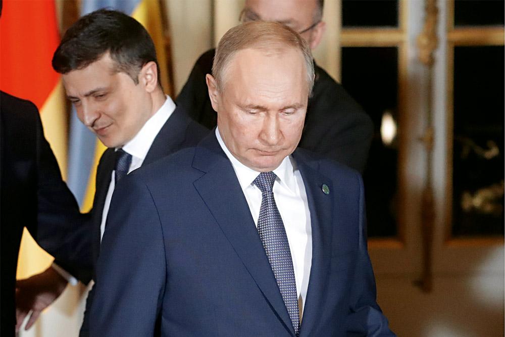 Путин, Зеленский, саммит в Париже, мирные переговоры, фото