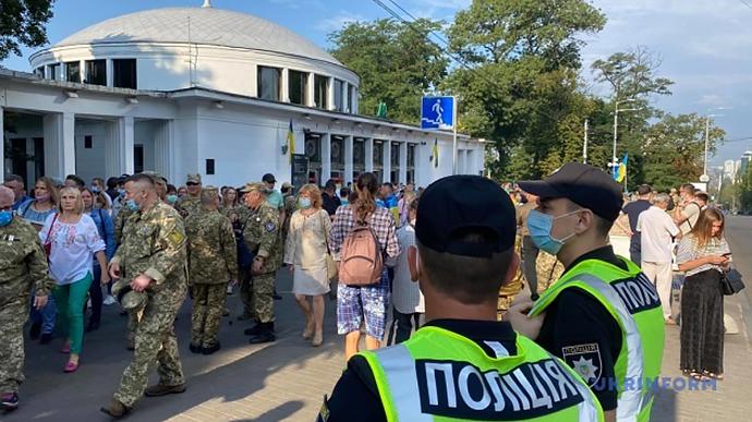 Киев готовится к торжествам: центр столицы усиленно охраняют, улицы пере...