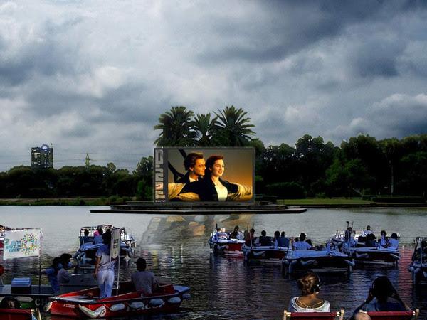Кино на воде: в Израиле открывают первый плавучий кинотеатр под открытым...
