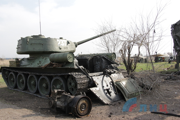 Под Луганском сгорела техника боевиков, - разведка