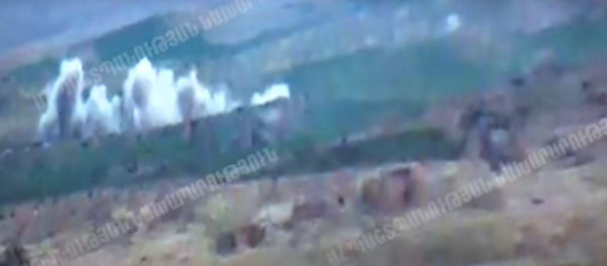Армения опубликовала видео танковой битвы в Нагорном Карабахе