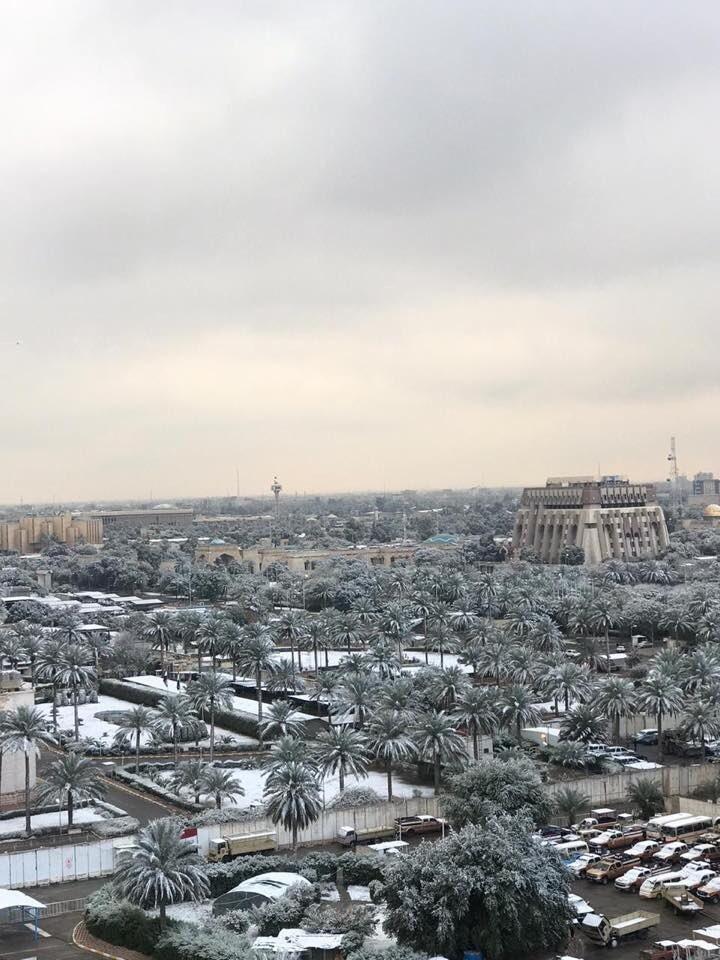 багдад засыпан снегом