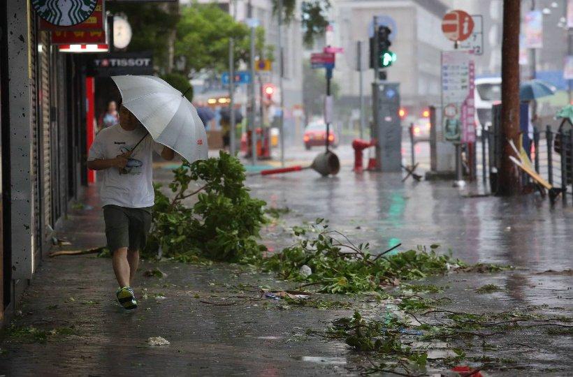 На Китай обрушился мощнейший тайфун
