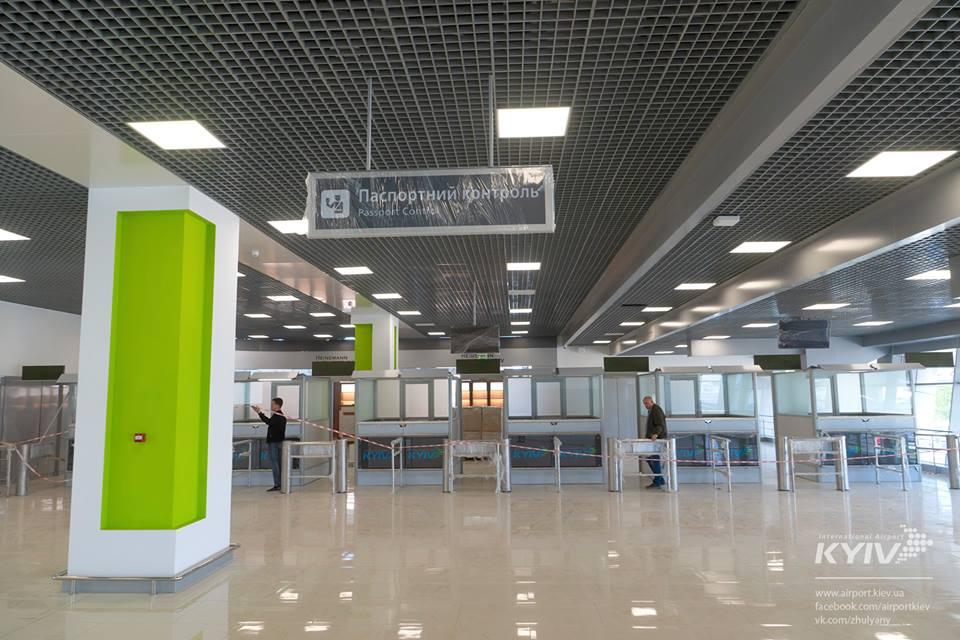 """В аэропорту """"Жуляны"""" показали новую часть терминала А"""