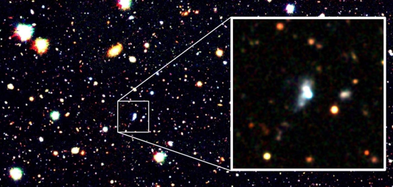 Последняя во Вселенной. Астрономы нашли редкую галактику на начальной ст...