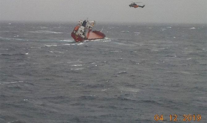 Возле Греции терпит крушение корабль с украинцами на борту