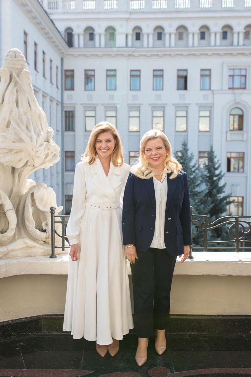 Елена Зеленская, первая леди Украины, супруга президента Украины, фото, жена Нетаньяху