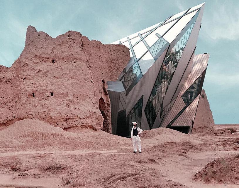 Дизайнер представил, как бы выглядел античный Иран с современной архитек...