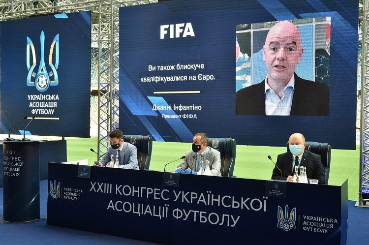 Прошлый год стал невероятным для украинского футбола, – президент ФИФА