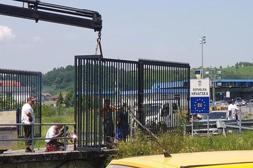 Хорватия из-за мигрантов установила забор на границе с Боснией и Герцего...