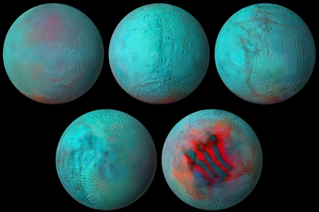 """Ученые увидели """"тигриные полосы"""" на поверхности спутника Сатурна"""