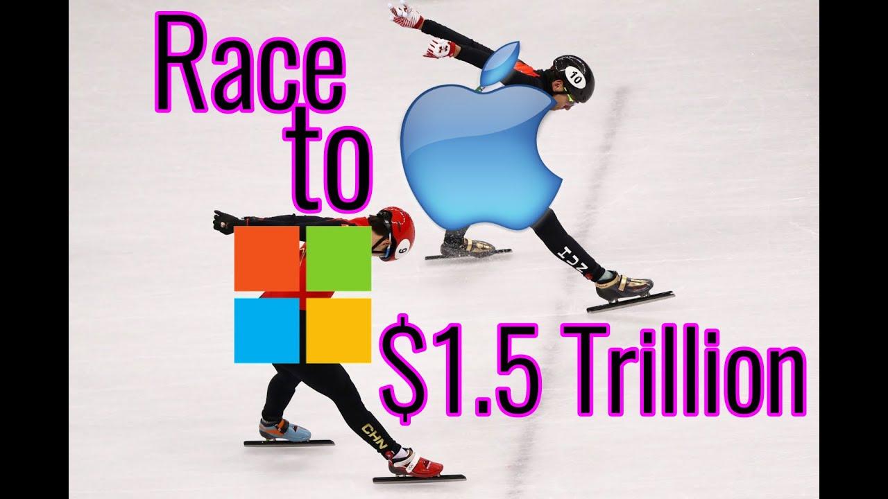 Apple и Microsoft стали первыми в истории технологическими компаниями с...