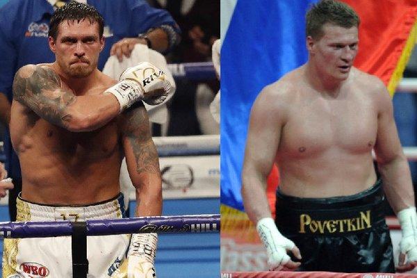Украинец Усик не будет боксировать с россиянином Поветкиным 18 мая