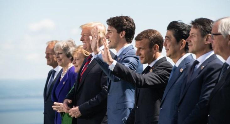 Макрон официально открыл саммит G7 рабочим ужином