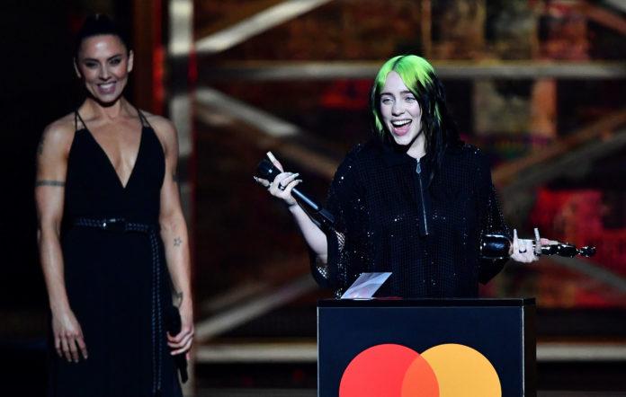 Билли Айлиш получила очередную музыкальную награду на BRIT Awards 2020