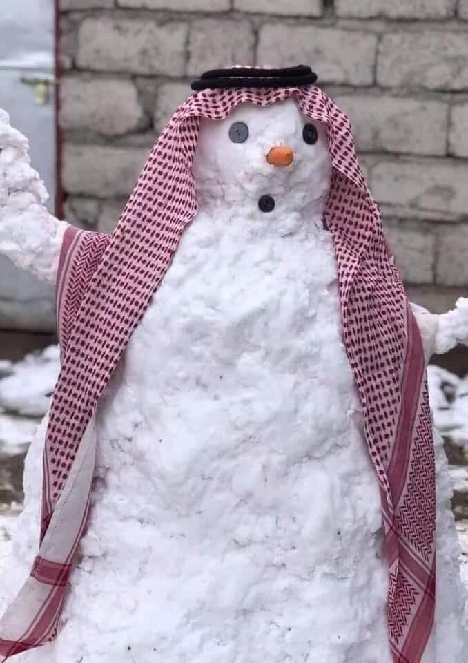 снеговик в багдаде