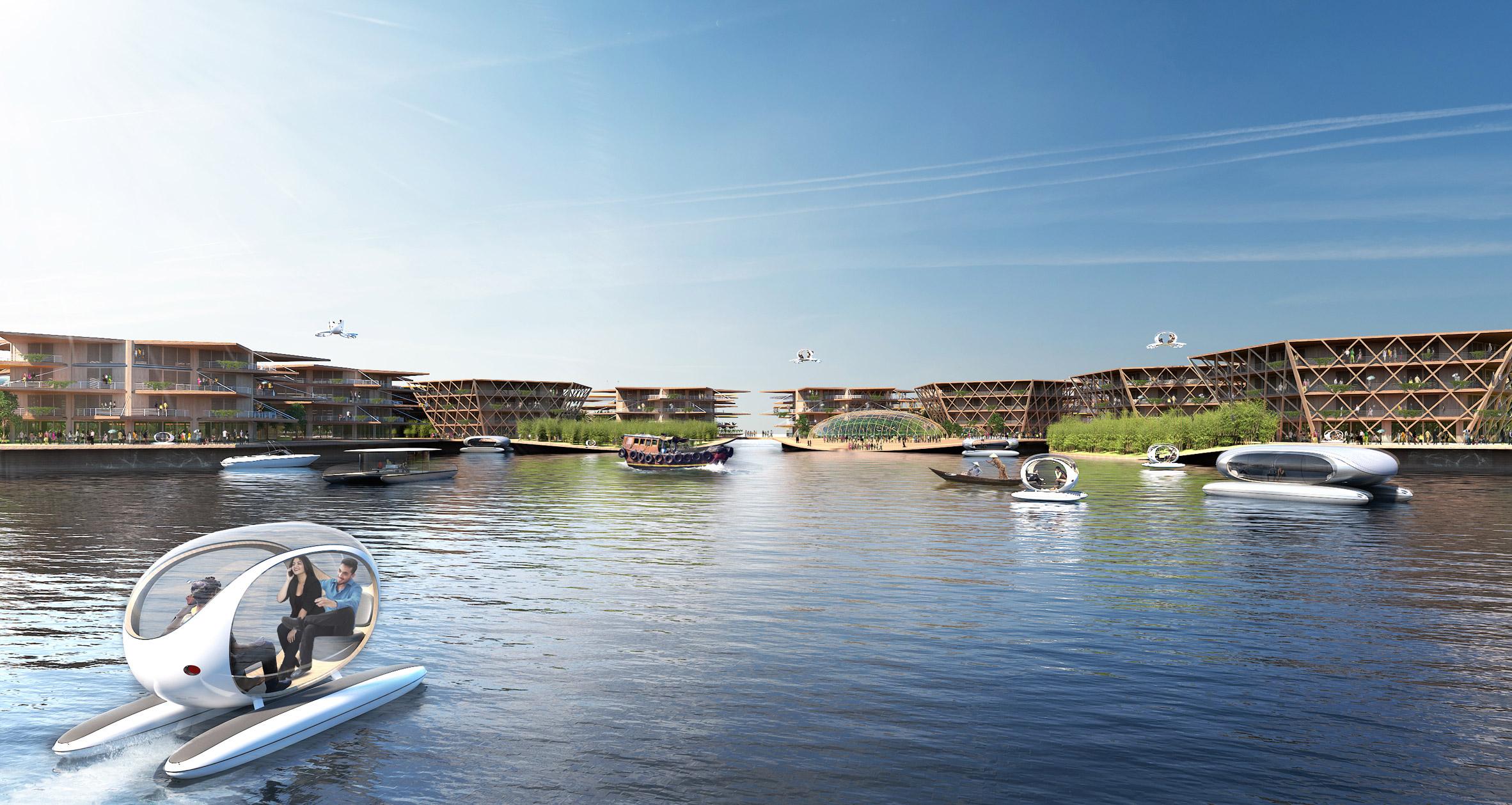 Водный мир: в OOH представили проект плавучего города, устойчивого к кат...