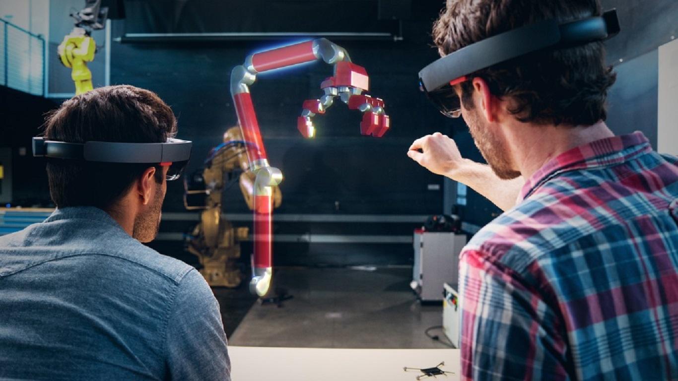 Microsoft Hololens, дополненная реальность, очки дополненной реальности HoloLens