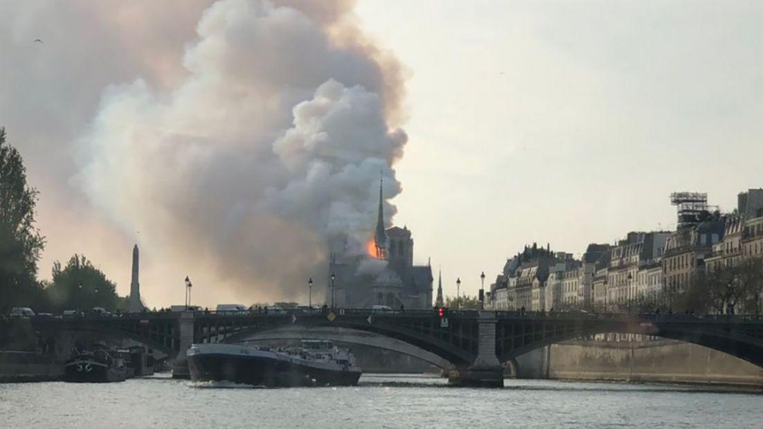 Просто чудо: после пожара в соборе Парижской Богоматери уцелели витражи...