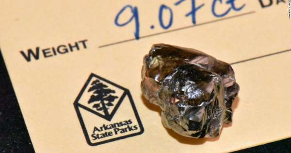 """Американец нашел в национальном парке Арканзаса """"стекляшку"""", которая ока..."""