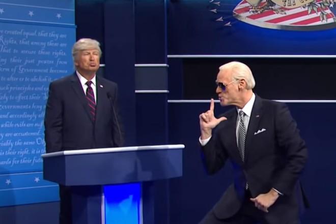 Алек Болдуин и Джим Керри  спародировали дебаты Байдена и Трампа