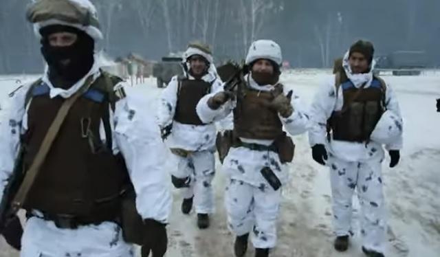 """Украинские бойцы под мелодию """"Щедрика"""" записали поздравление с Новым год..."""