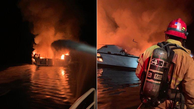 В Калифорнии более 30 человек погибли при пожаре на корабле
