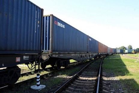 """""""Исторический момент"""". УЗ приняла первый контейнерный поезд из Китая"""
