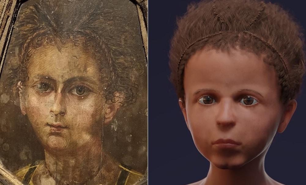 Ученые реконструировали облик египетского мальчика, жившего две тысячи л...