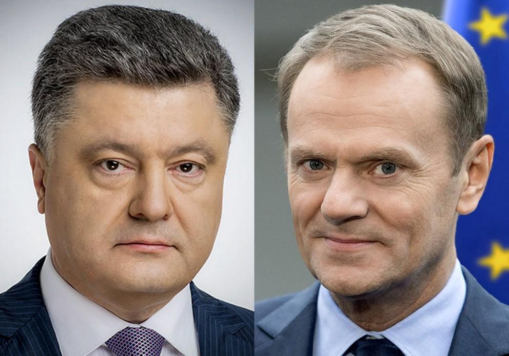 Туск поздравил Порошенко с выходом во второй тур выборов