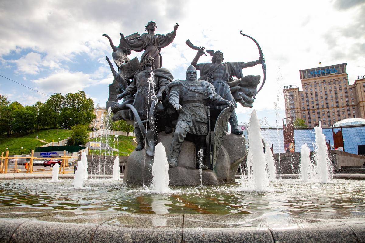 В Киеве прекращают работу фонтаны