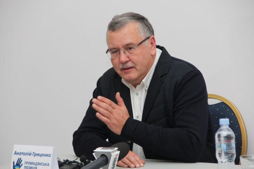 """Гриценко """"дает шанс"""" Зеленскому, чтобы быть союзниками"""