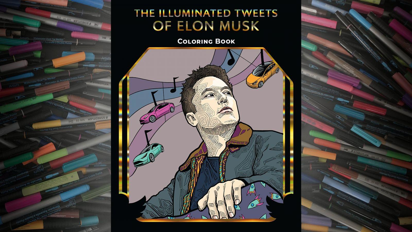 В США выпустили книжку-раскраску по мотивам твитов Илона Маска