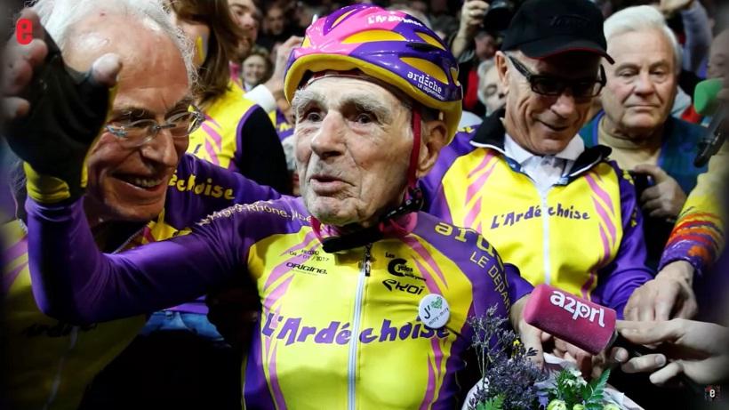 105-летний французский велосипедист установил рекорд