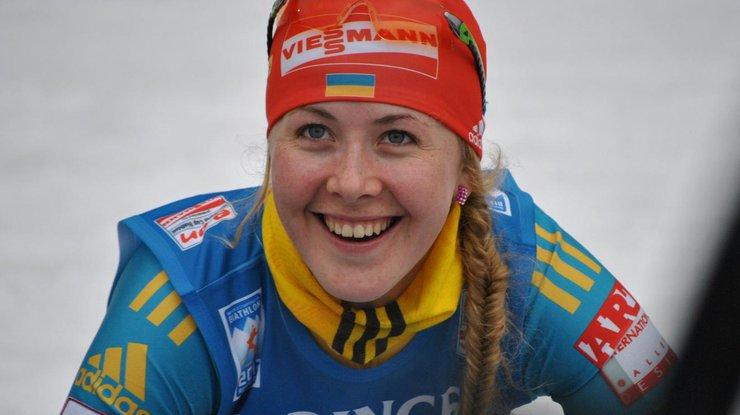 Украинская биатлонистка Джима завоевала серебро на Кубке мира
