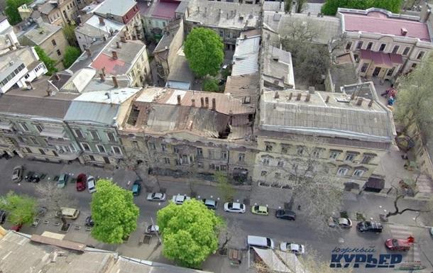В Одессе в доме Гоголя обвалилась крыша