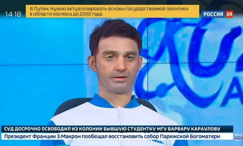 """Новости на канале """"Россия 24"""" провел странный """"реалистичный"""" робот"""