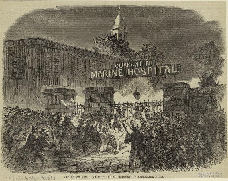 новые санжары, нападение, госпиталь, нью-йорк, карантин, желтая лихорадка