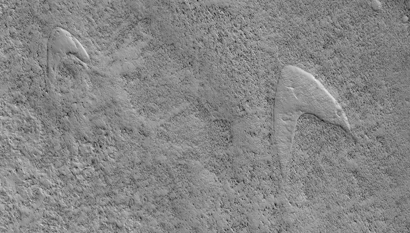 "Зонд NASA увидел на поверхности Марса логотипы из ""Стартрека"""