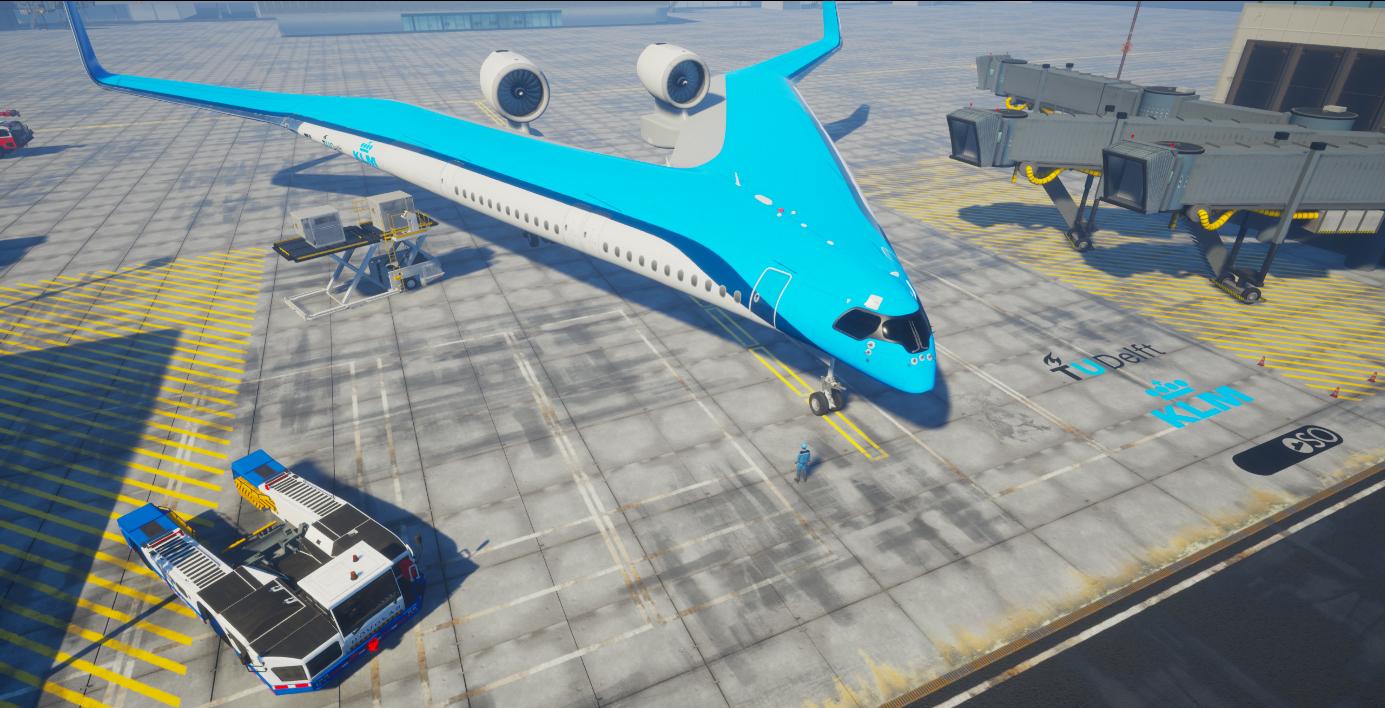 В Нидерландах разработают самолет с пассажирским салоном в крыльях