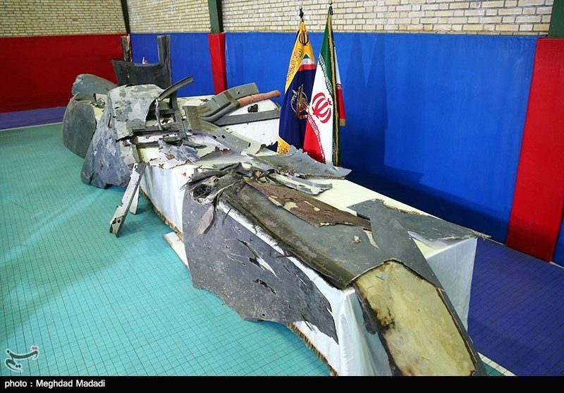 Иран показал фотографии обломков сбитого беспилотника США