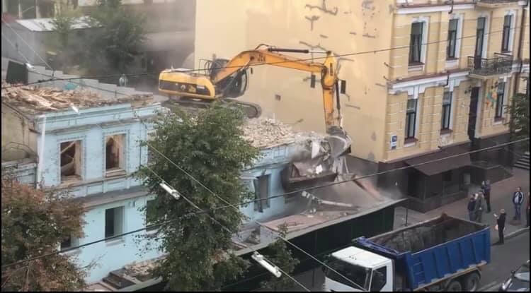 150-летний дом на Саксаганского в Киеве разрушили без необходимого разре...