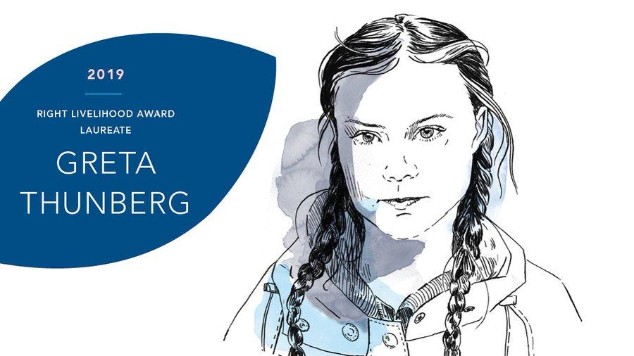 Грета Тунберг стала альтернативной нобелевской лауреаткой