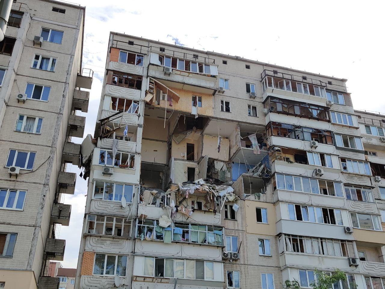 Взрыв дома на Григоренко: движение на проспекте ограничено