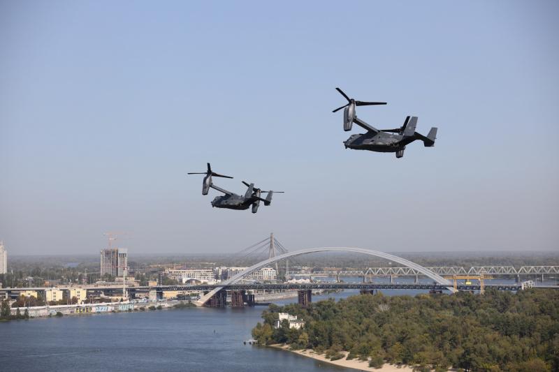 Над Киевом пролетали американские конвертопланы СV-22 Osprey