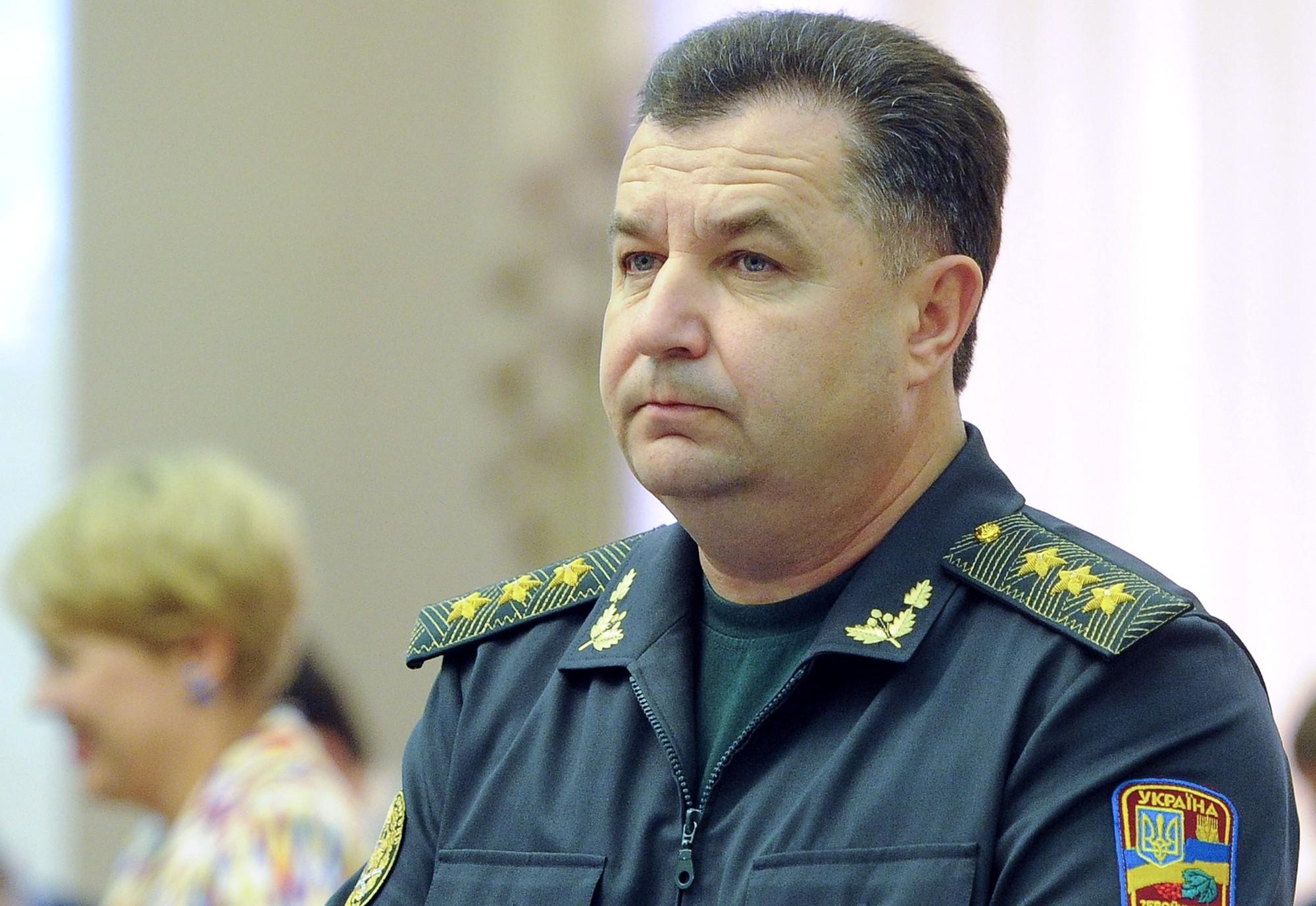 Рада оставила Полторака в должности главы Минобороны